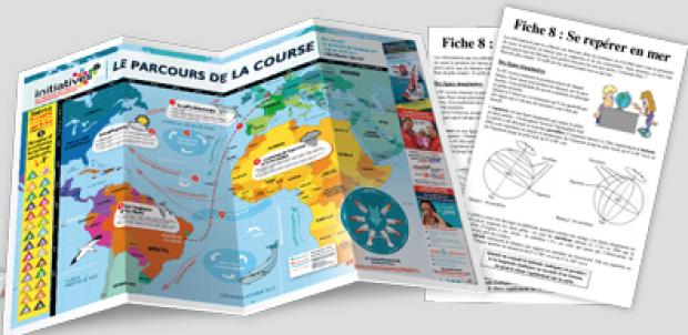 Fichiers pédagogiques et cartes pour suivre les grandes courses océaniques