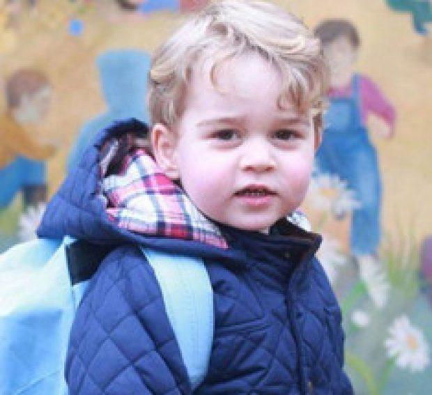 Le prince Georges à l'école Montessori