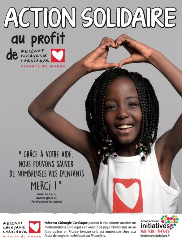 Affiche pour annoncer la collecte solidaire