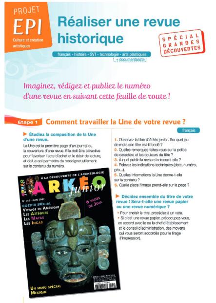 EPI : Réaliser une revue historique