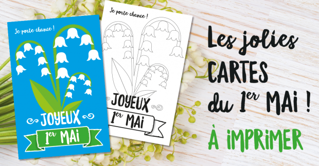 Les jolies cartes du 1er mai, à colorier ou à offrir !