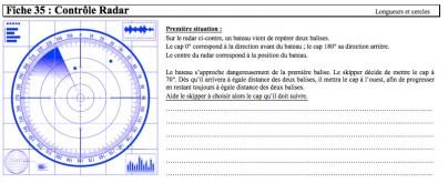 contrôle radar mathématique
