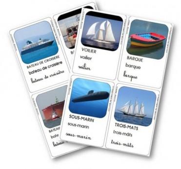 Les cartes de vocabulaire, jeu d'association et mémory
