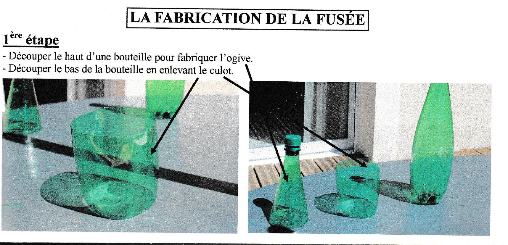 fabrication de la fusée à eau : étape 1