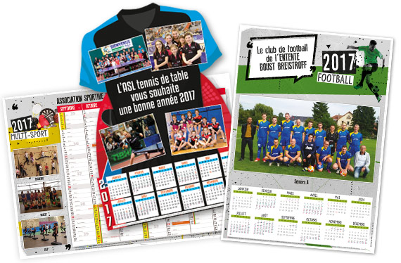 vente de calendriers pour financer un club de sport