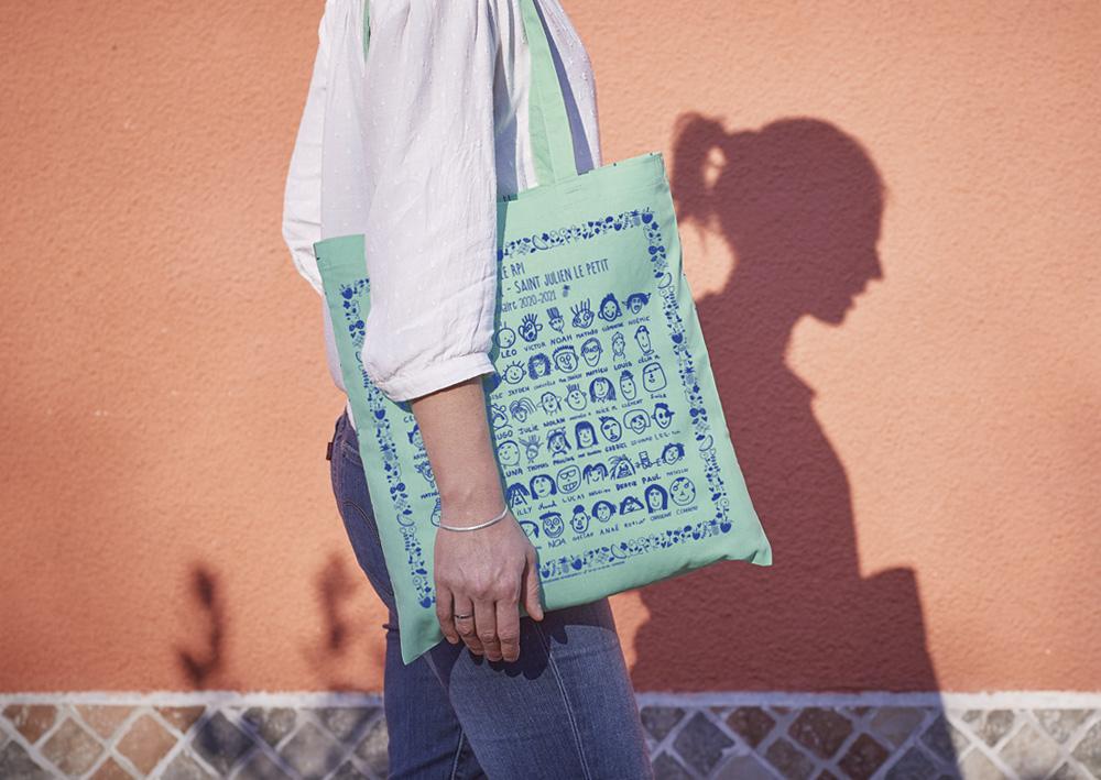 sacs personnalisés avec dessin des enfants